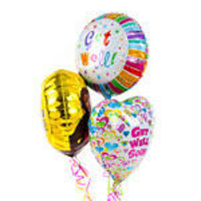 Picture of Get Well Balloon Bouquet of 3