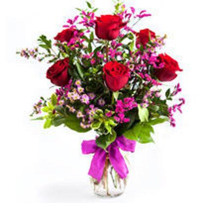 Picture of $35 Half Dozen Rose Arrangement