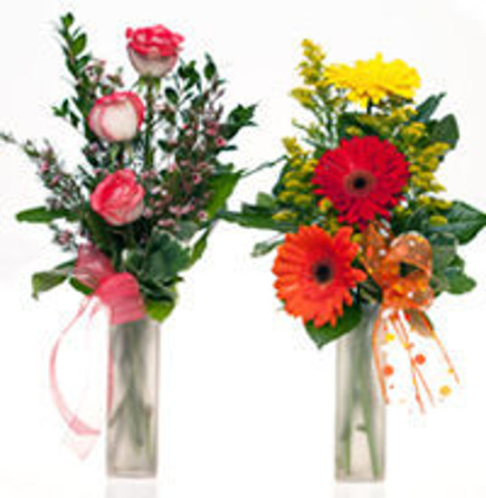 Picture of 3 Rose or 3 Gerbera Vase