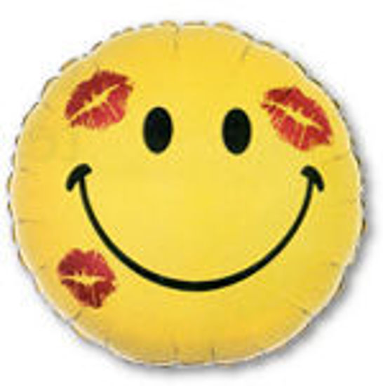 Picture of Smiley Face with Kisses