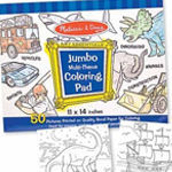 Picture of Coloring Pad and Colors - Blue