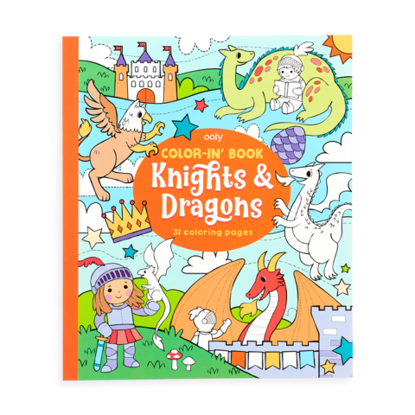 Knights and Dragons Color In Book
