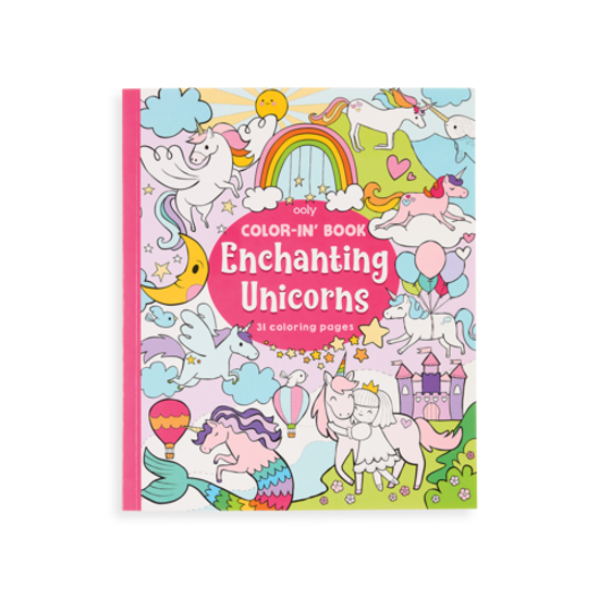 Enchanting Unicorns Color In Book